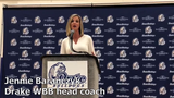 Drake women's basketball coach Jennie Baranczyk talks about her team's expectations for 2019-20