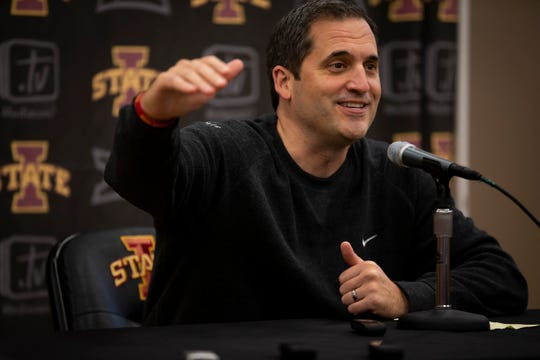 Iowa State men's basketball head coach Steve Prohm talks to reporters during media day for Iowa State mens basketball on Wednesday, Oct. 16, 2019 in Ames.