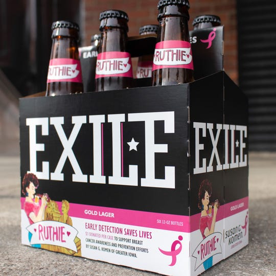 Exile Brewing Company has partnered with Komen Greater Iowa to help raise funds for Breast Cancer Awareness Month. One dollar for every 6-pack of Ruthie sold will go toward proceeds.