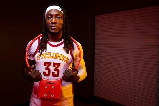 Iowa State redshirt junior forward Solomon Young poses for a photo during media day for Iowa State mens basketball on Wednesday, Oct. 16, 2019 in Ames.