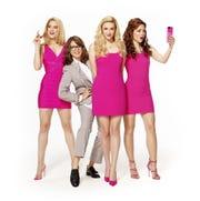 (L-R) Jonalyn Saxer, Tina Fey, Mariah Rose Faith, and Megan Masako Haley