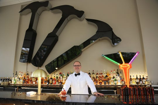 Hammer & Nail General Manager Rick Paulger at the new Midtown cocktail bar on October 16, 2019, two days before its debut.