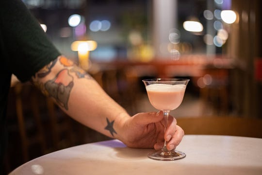 The Pink Squirrel cocktail at the Hammer & Nail bar in Midtown is a revived version of a retro classic that fell out of fashion.