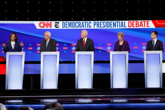 The Oct. 15, 2019, Democratic presidential debates hosted by CNN/New York Times at Otterbein University.