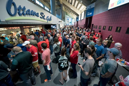 No alcoholic beverages will be sold in the arena during the Griffins' Oct. 23, 25, 26 and 30 games and no alcohol may be served or consumed in the arena suites or hospitality areas.