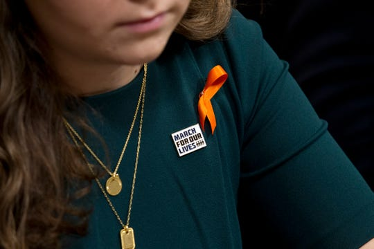 Parkland shooting survivor and March for Our Lives co-founder Lauren Hogg testifies to House Homeland Security subcommittee hearing on school security at Capitol Hill, on Thursday, Sept. 26, 2019, in Washington.