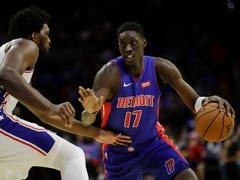 Shorthanded Pistons fall to 76ers