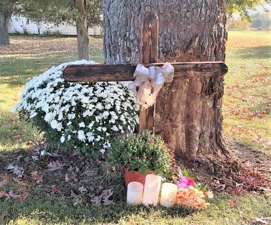 A memorial was set up at the site of a crash that killed four people in the Steuben County Town of Pulteney.