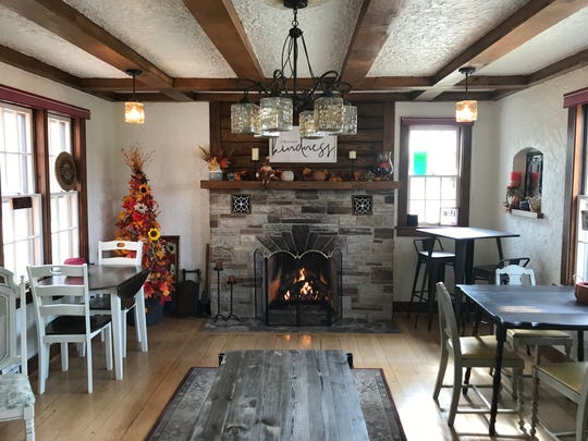 Located in a home built in 1935, Stone Oak Coffee Haus has multiple rooms for  customers to take to and enjoy their drinks.