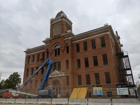 St. Joseph School will be razed this week to make way for a new parking lot.