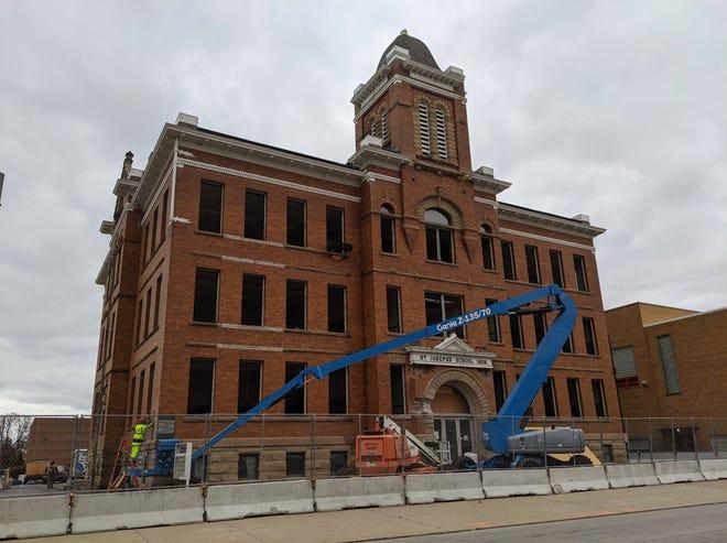 Standing on on Croghan Street since 1908, St. Joseph School will be razed this week.