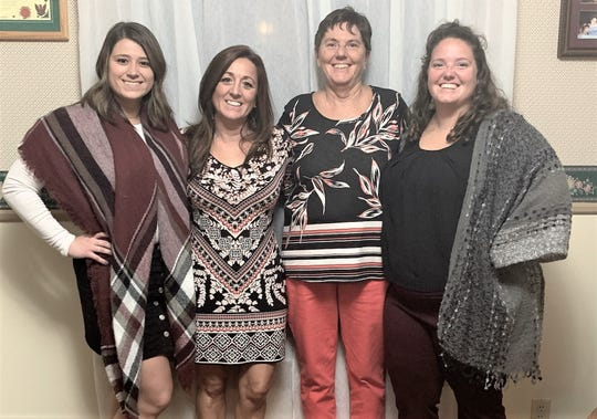 From left are Kaylie Hallett-Szymanski, Marnie Hallett-Szymanski, Kay Hallett and Kaycee Hallett, part of a five-generation teaching legacy.