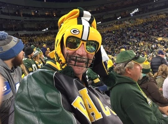"Packers fan Francis Bailey of Alma, Michigan, wasn't about to miss the ""Monday Night Football"" game at Lambeau Field on Oct. 14. He recently learned his cancer is terminal, but says, ""I would've come in an ambulance."""