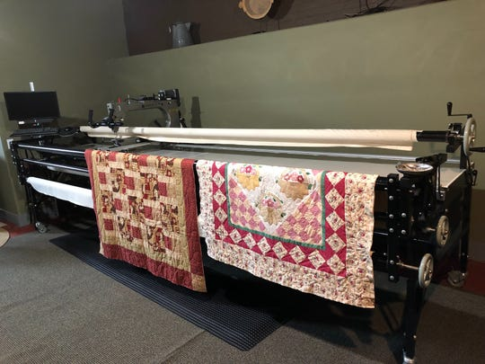 The long arm of the quilts - Ann Maloney will give demonstrations on her computerized long arm quilting machine during an open house from 1 to 5 p.m. Oct. 25 at her Annie's Quilt & Lodge quilting shop in Kewaunee.