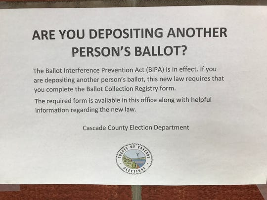 A new law requires people who drop off ballots for voters complete a registry from.