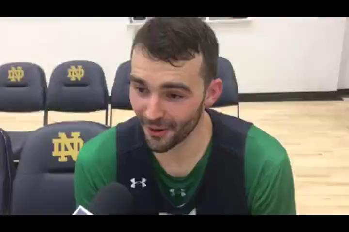 Notre Dame senior John Mooney on being encouraged to shoot more