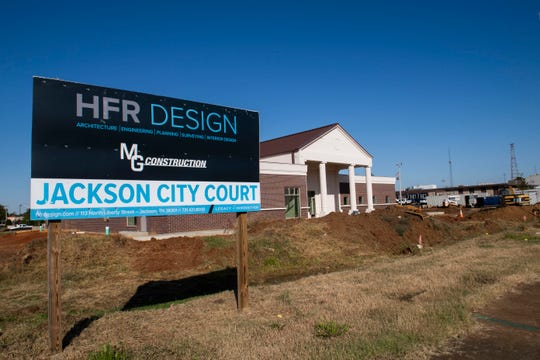 Construction for the new Jackson City Court is underway in Jackson, Tenn., Wednesday, Oct. 16, 2019.