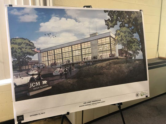 At the entrance of JCM at Lane Ave., there will be new landscaping and parking. There will be a plaza for kids to wait out front.