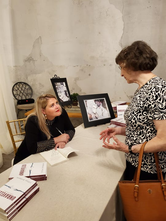 """Tiffany Bethmann celebrated her book release where she grew up, in Fountain City, on Oct. 10. """"Some people have said 'you write like you and I are having a conversation, making me laugh one minute and cry the next,'"""" she said."""