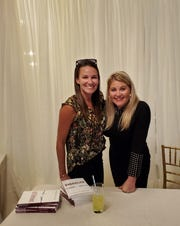 """So many people were involved, friends, family, community, I rocked not just my world, my community rose to the calling and gave me tools, where the world might attach shame to me,"" said Tiffany Bethmann of her teenage pregnancy. Bethmann is pictured here Oct. 10 at her Fountain City book launch with April Underwood, her best friend since middle school."