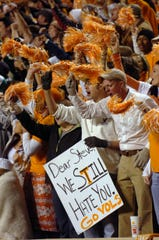 October 2005: Steve Spurrier, in his first game at Tennessee as South Carolina's coach, was greeted at Neyland Stadium as a longtime enemy. Amy Smotherman-Burgess, News Sentinel staff