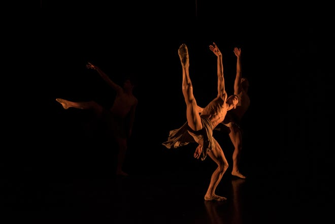 """""""at High"""" is the second act in a 3-part act at Louisville Ballet this weekend, choreographed by Andrea Schermoly, the company's first female resident choreographer."""