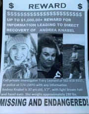 Andrea Michelle Knabel, a single mom from Louisville, Kentucky, has been missing since Aug. 13, 2019, when she was last seen on Fincastle Road near the Audubon Park and Camp Taylor neighborhoods. Knabel has helped search for missing persons herself as a member of Missing in America.