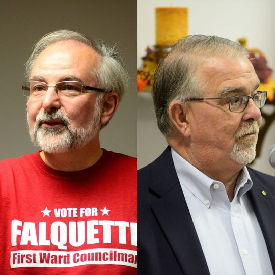 David Falquette, left, and Phil Scott are vying for one of Mansfield City Council's at-large seats.