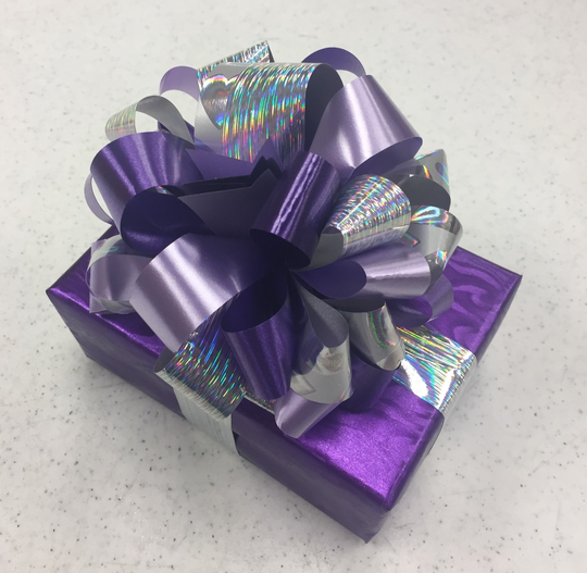An example of a wrapped gift from Carroll's Jewelers.