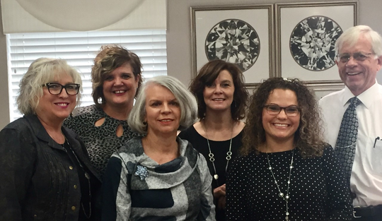 The staff at Carroll's Jewelers. From left to right Tammy Judy, Lisa Grill, Marianne Brammell, Emily Thacker, Tiffanie Starcher and Lowell Thurston.