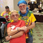 MIYC members Alice and Tom Jobe dance to a Woodstock tune sung by Nevada Smith