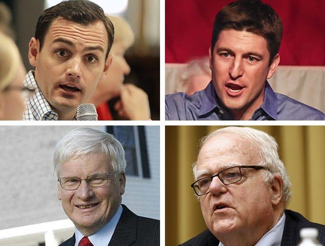 (Clockwise from upper left) Wisconsin's Republican members of Congress Mike Gallagher, Bryan Steil, James Sensenbrenner and Glenn Grothman.