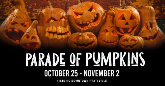 Prattville's Parade of Pumpkins will be Oct. 25-Nov. 2.