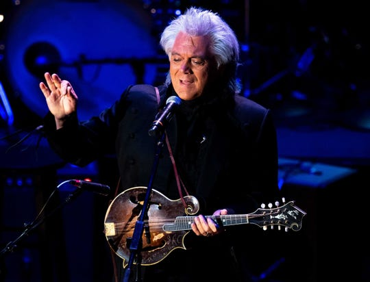 Marty Stuart performs during the Country Music: A Concert Celebrating the film by Ken Burns concert at the Ryman Auditorium in Nashville, Tenn., Wednesday, March 27, 2019.