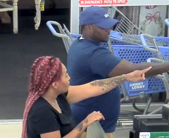 A photo taken from surveillance video shows the Hobby Lobby fraud suspects.