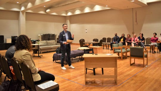 ASF Artistic Director Rick Dildine speaks at a theater event.