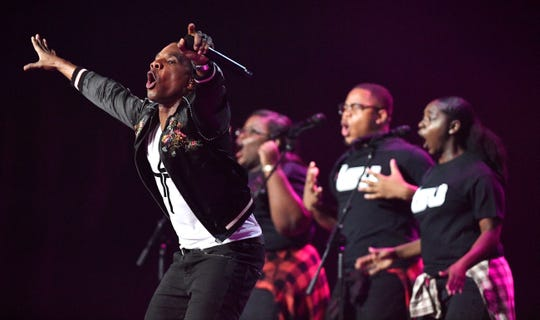 Kirk Franklin performs at the Gospel Music Association (GMA) 50th Annual Dove Awards at Lipscomb University's Allen Arena Tuesday, Oct. 15, 2019, in Nashville, Tenn.