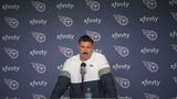 Ahead of the Titans' game against the Chargers Sunday, Titans Coach Mike Vrabel talks about making Ryan Tannehill starting QB