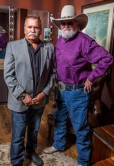 David Corlew and Charlie Daniel backstage at the Grand Ole Opry House on October 15, 2019. The pair founded The Journey Home Project to help support veterans.