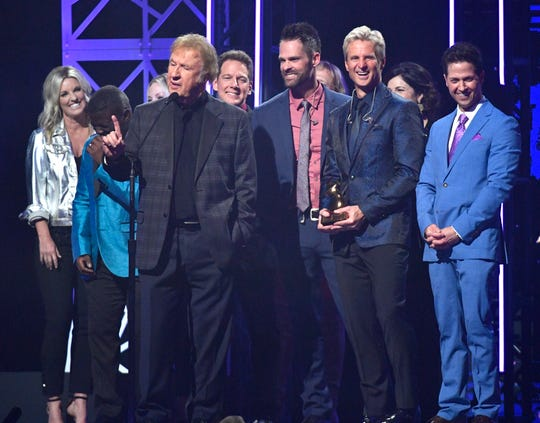 Southern Gospel Artist of the Year went to the Gaither Vocal Band at the Dove Awards this year.