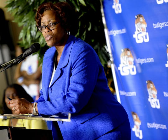Tennessee State athletics director Teresa Phillips, shown here in 2014, is stepping down at the end of the school year.