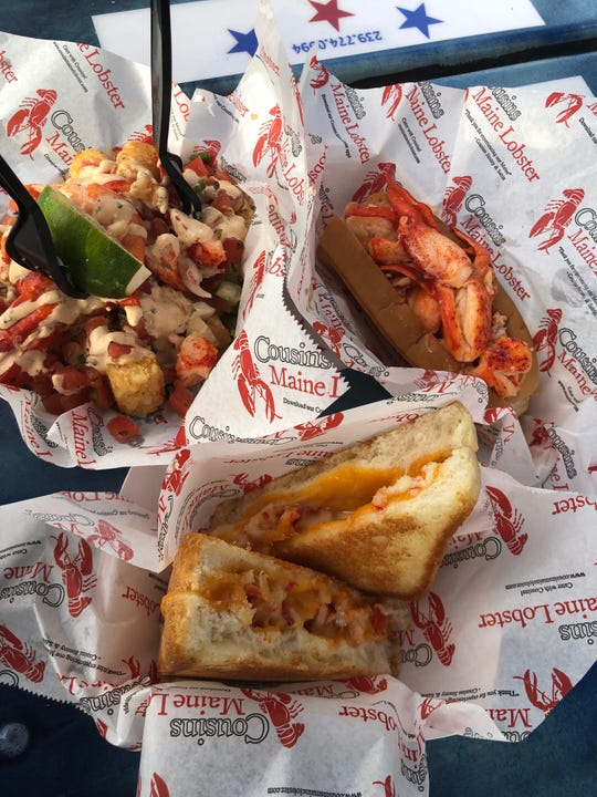 Lobster tots, the Connecticut lobster roll and the lobster grilled cheese are all on the lobster-focused menu at Cousins Maine Lobster in Celebration Park.
