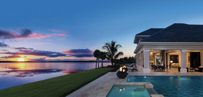 WildBlue is a 3,500 acre community in Estero where most homes offer lake views.