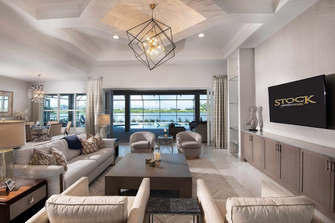 The Covington, located at Isles of Collier Preserve, is one of twenty-two new furnished models open today.