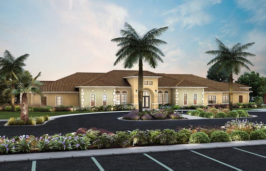 Grand Hall will enhance the community's amenities with an expansive social hall space and catering kitchen, a veranda for al fresco socialization, card and game rooms, and more.