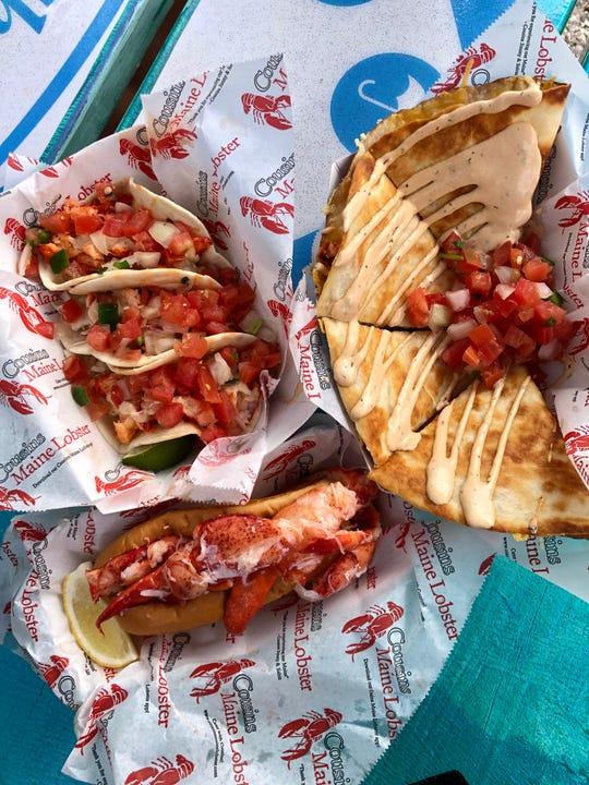 Cousins Maine Lobster food trailer serves shrimp and lobster dishes from Celebration Park in Naples.