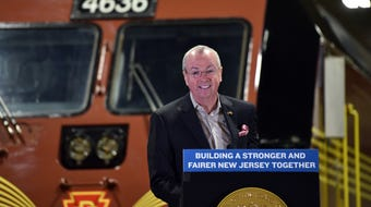 Gov. Murphy delivers remarks at Completion of Classroom Training Ceremony for new NJ Transit engineers on October 15, 2019.