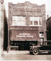 Great Depression-era photo of Parian & Sons jewelry store in Clifton. The Clifton location closed in 2001.