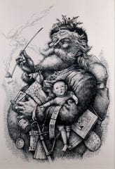 Illustrator Thomas Nast cemented the vision of Santa Clause best known today.