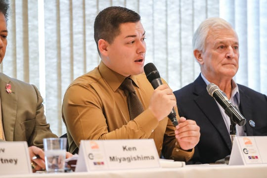 Mayoral candidate Jorge Sanchez speaks at a In the Know Luncheon: Mayoral Candidate Panel in Las Cruces on Wednesday, Oct. 16, 2019.